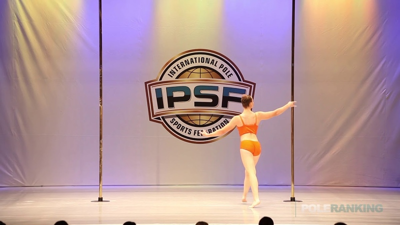 Junior Girls Anzhelika Mikutaitis of Russia - IPSF World Pole Sports Championships 2018