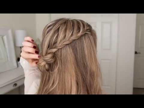 Half Up Hairstyle | Two Lace Braid Mini Bun