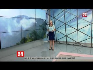 В Ялтинских горах сотрудники МЧС тушат новый пожар