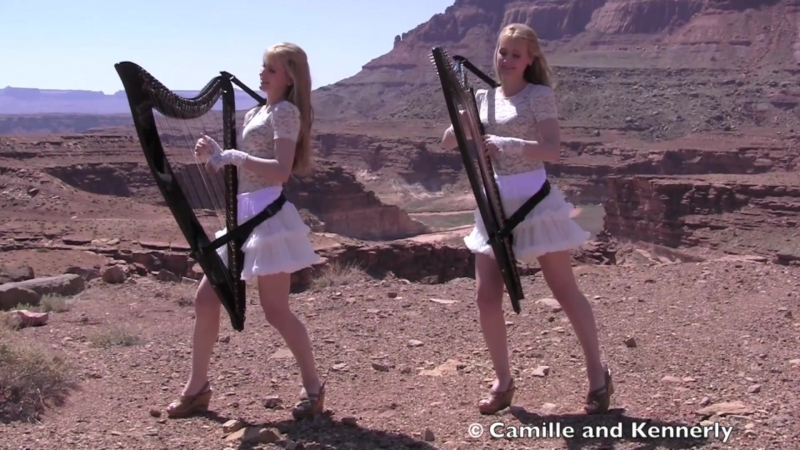 SCORPIONS - Send Me An Angel - Harp Twins (Camille and Kennerly) HARP ROCK_⁄METAL