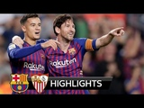 MESSI 1 Goal vs KING RONALDO, Barca 4-2 Sevilla! All Goals &amp Highlights Barcelona vs Sevilla