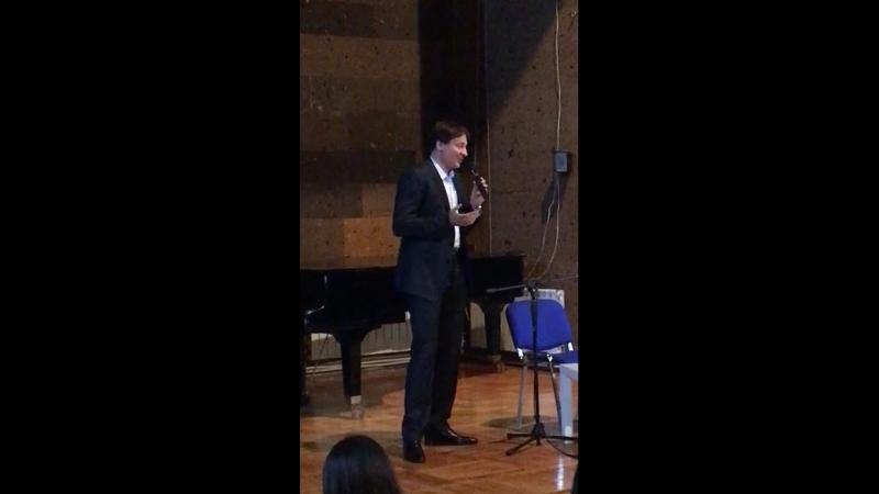 Первая часть выступления Павла Санаева