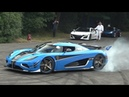 Best Supercar Sounds Of Goodwood Festival Of Speed 2018 (Donuts, Burnouts, drifts and Full Throttle)