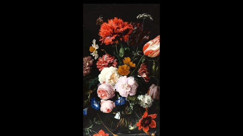 Animation of Stilleven met bloemen in een glazen vaas - Jan Davidsz de Heem