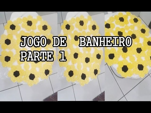 JOGO DE BANHEIRO PARTE 1| COM FLOR DE FUXICO artesanatos diy