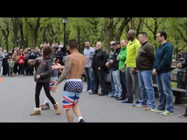 New York Street Acrobat performance Central Park PART 1