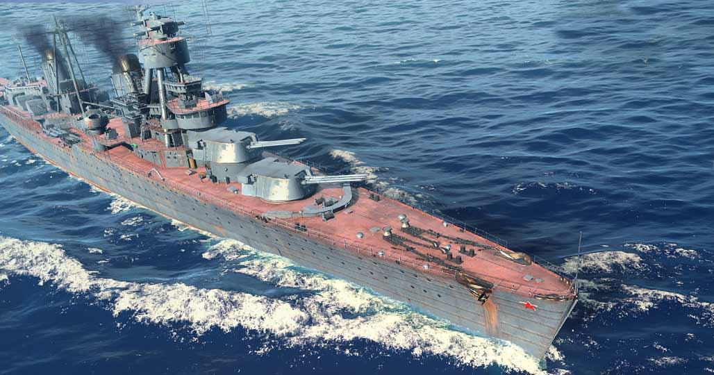 Советский крейсер