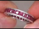 Pigeon Blood Red Ruby Eternity Ring Being Auctioned From $2 Million Dollar Estate