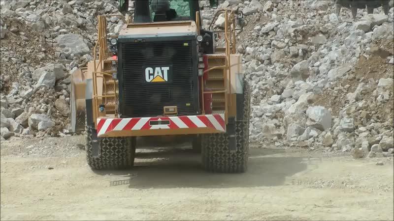 Massive CAT 988K Wheel loader at Hillhead 2014