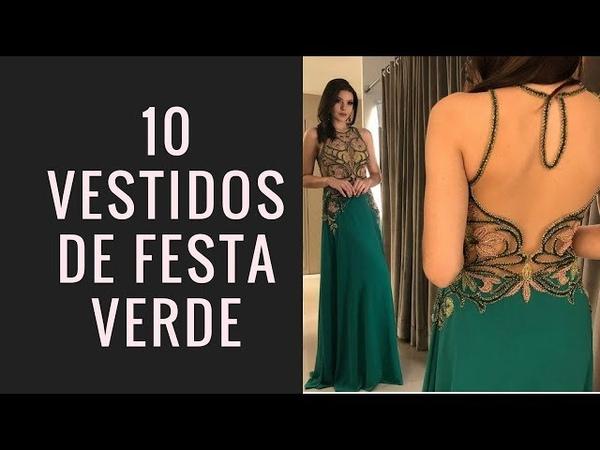 Vestido de festa verde 2018