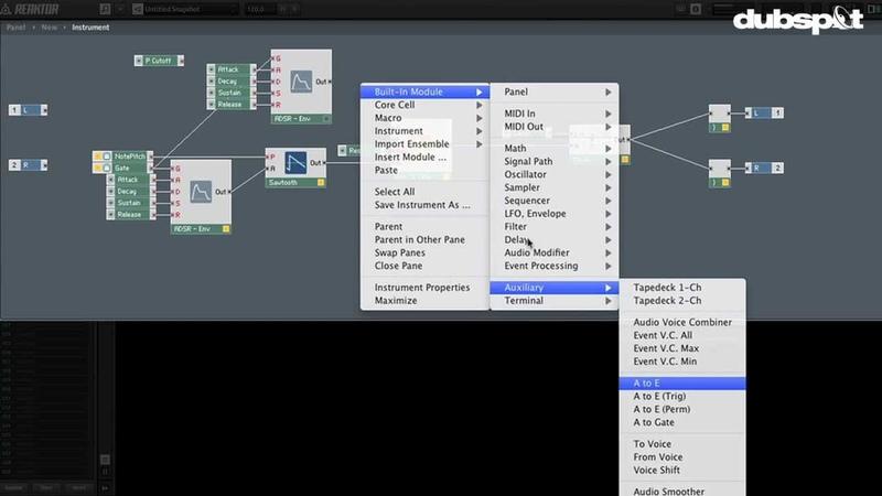 Reaktor Tutorial Sound Design w Native Instruments Creating a Filter w Modulation