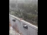 Первый снегопад с метелью в Ханта-Мансийские 9 октября 2018 года!