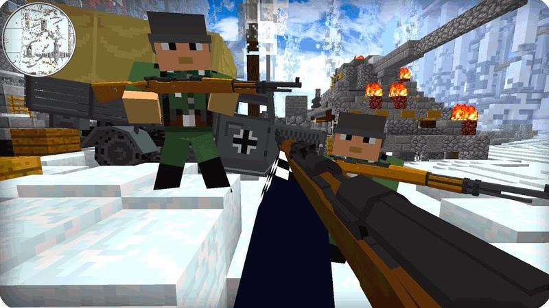 Вторая Мировая Война [ЧАСТЬ 1] Call of duty в Майнкрафт! - (Minecraft - Сериал).Канал на ютубе EdisonPts