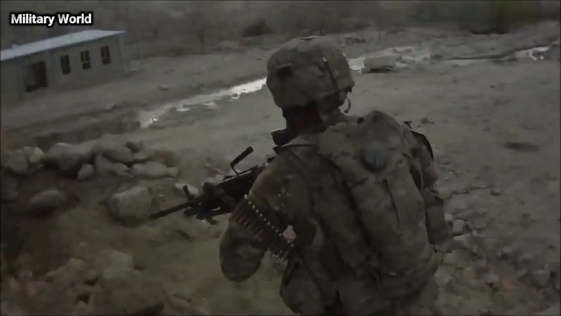 US Soldiers in Afghanistan Several Firefights Against Taliban Helmet Cam Combat Footage