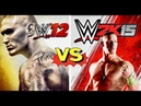 WWE 12 Finishers VS WWE 2k15 Finishers Comparison👏😍WHO IS THE BEST 👏😍