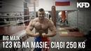 BIG MAJK 123 kg na wadze HMB martwe ciągi 250kg KFD
