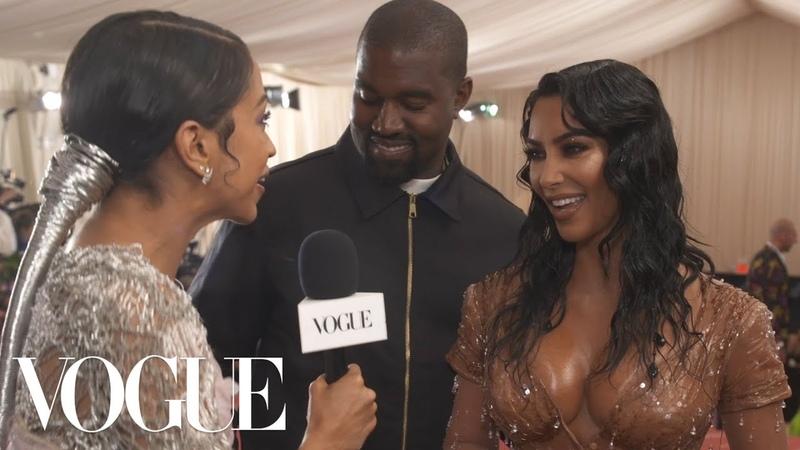 Kim Kardashian West Kanye West on Her Ocean-Soaked Met Look | Met Gala 2019 With Liza Koshy