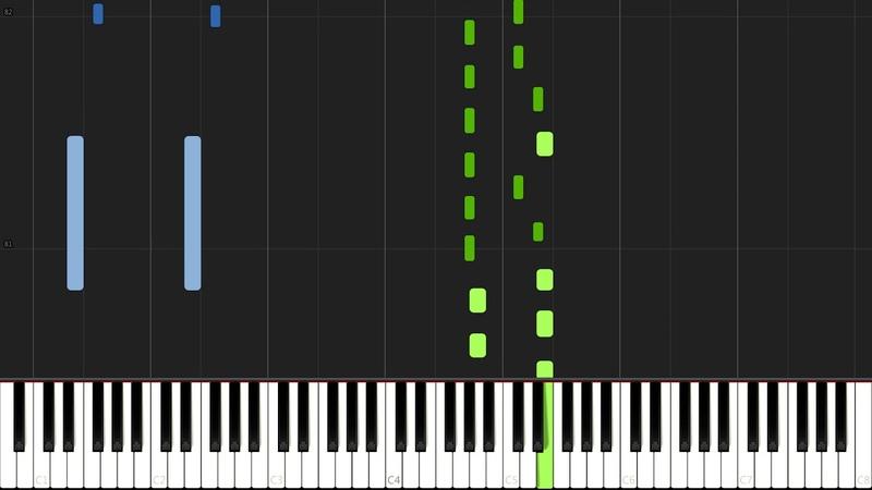 Fly - Ludovico Einaudi [Piano Tutorial] (Synthesia) Just Keynime