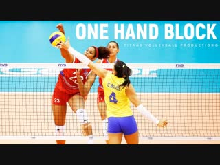 Top 20 best one hand block. womens volleyball nations league 2018.