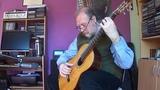 CELLO Suite No. 1 the 4th Mvt. SARABANDE Johann Sebastian Bach, Enrique Bocaccio Guitar.