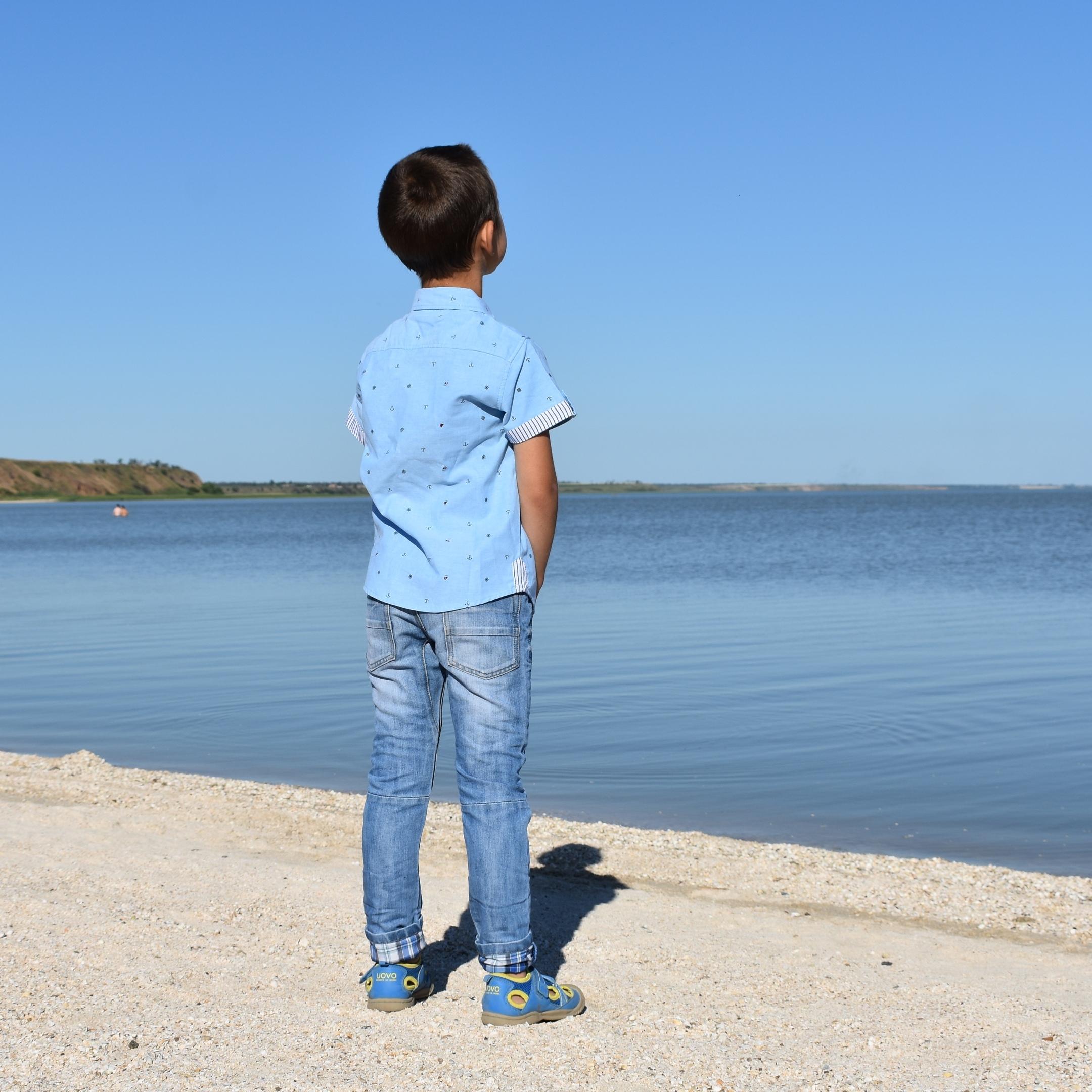 Классная хлопковая рубашка для мальчика из магазина KungFuAnt