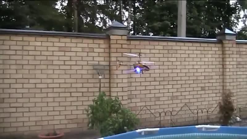 Радиоуправляемый вертолет HELIKOPTER Crash тест