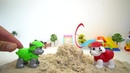 Paw patrol Toy Let Make Tower with Kinetic Sand Rocky and Marshall Playing Sand coub