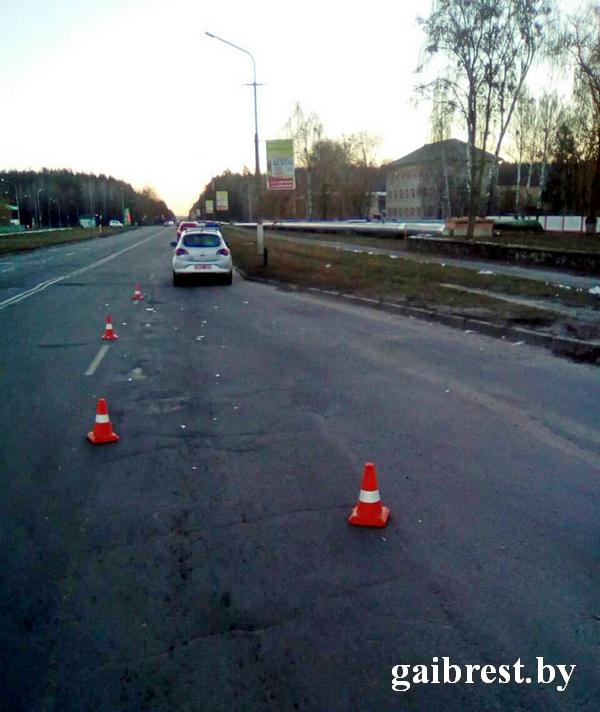 г.Пинск: в ДТП травмирована пешеход, пересекавшая проезжую часть вне пешеходного перехода