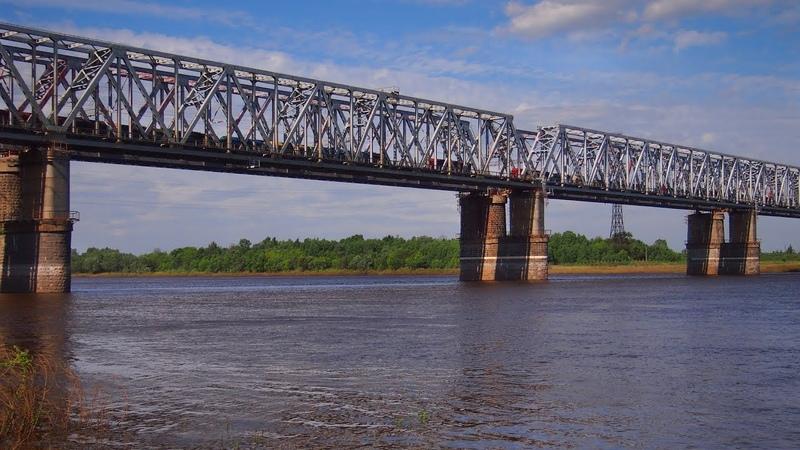 Железнодорожный мост через Оку в Муроме - 27 мая 2018/Railway bridge across the Oka River in Murom