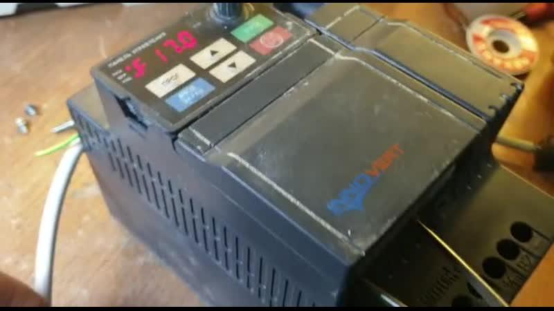 КИПлаб Ремонт залитого БЕТОНОМ! частотного преобразователя ISD372U21B Инноверт