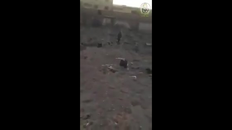 Последствия авиаудара в районе Абу-Кемаля (18 июня 2018) :