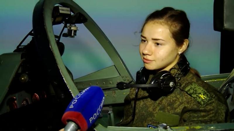 Первый месяц учебы закончился у курсанток Краснодарского авиаучилища