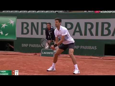 TENNIS - Dominic Thiem vs Novak Djokovic - Roland Garros 2017 QF [highlight HD]