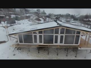 ШАЛЕ - ФАХВЕРК проект современного каркасного дома на склоне