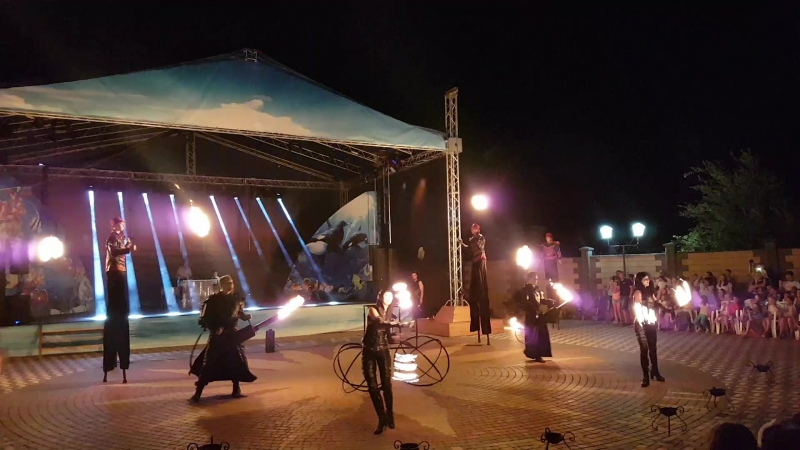 Выступление Театра огня GEFEST show , Туристический Комплекс ПРИБОЙ