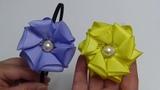 Flor Doble de liston Gros , DIY Ribbon Flower