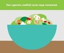 Шпаргалка, которая поможет создавать вам всегда новые и вкусные салаты! Сохраняйте