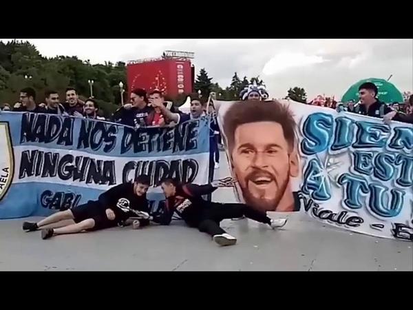 Fan Messi tại Moskva tiếp sức cho Argentina   World cup 2018