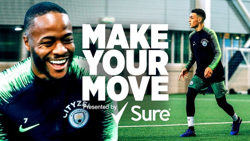 Raheem Sterling Phil Foden Danilo Make Your Move presented by Sure