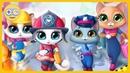 Котята Герои Играем в пожарных полицию инженеров и врачей Спасаем город зверят с Kids PlayBox