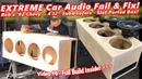 Extreme Car Audio FAIL Fix Bucket o' BASS Chevy - 4 12 Subwoofers Ported Box Build Video 6