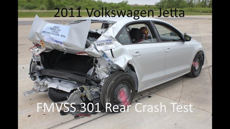 2011-2018 Volkswagen Jetta FMVSS 301 Rear Crash Test (50 Mph)