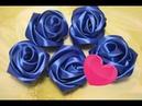 DIY : Розы из атласной ленты 5 см