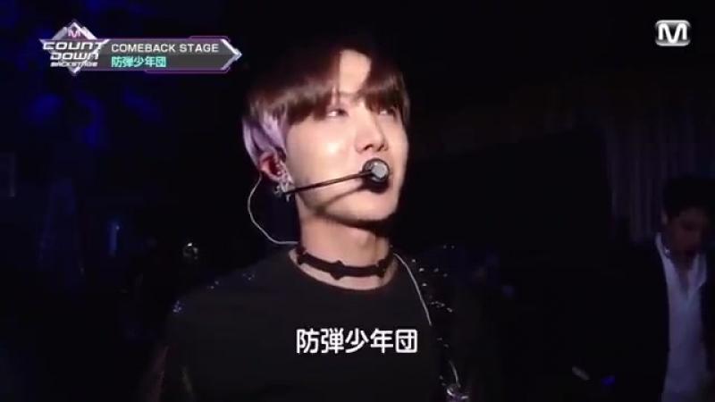 180617 MNET jpn MCountdown backstage BTS (Hoseok cut)