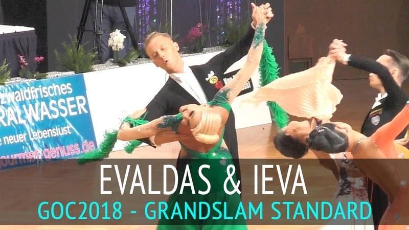 Evaldas Sodeika Ieva Zukauskaite Медленный фокстрот GOC2018 GrandSlam STANDARD