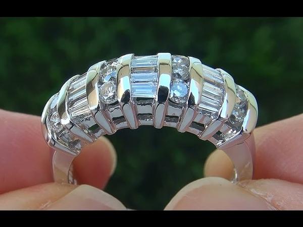 Estate VS2G Natural Diamond 14k White Gold Cocktail Anniversary Ring - C660