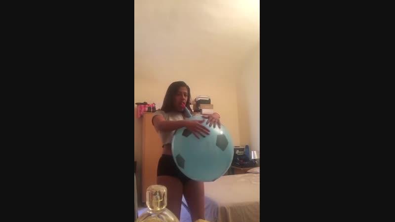 Kathy looner ex Rebekah looner Punch ball balloons blow to pop btp b2p