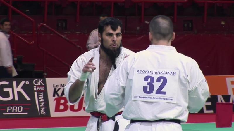 Karaté Kyokushin Championnat Europe : Navarro vs Delaunay