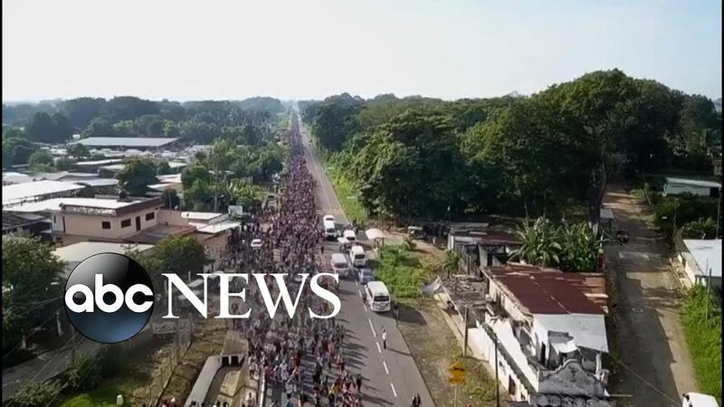 Inside the caravan of migrants en route to US border