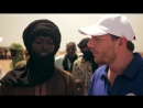 Manu Feildel visits a refugee camp in Niger to help Stop the Hunger in West Africa
